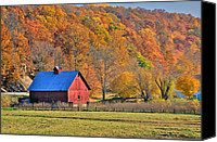 Indiana Autumn Canvas Prints - Near Bedford Indiana Canvas Print by Marsha Williamson Mohr