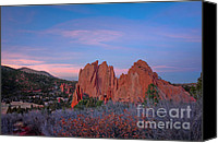 Garden Of The Gods Canvas Prints - Near Sunset Canvas Print by David Waldrop