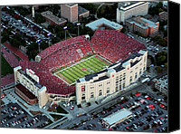 Team Canvas Prints - Nebraska Aerial View of Memorial Stadium  Canvas Print by PRANGE Aerial Photography