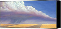 Cloud Painting Canvas Prints - Nebraska Vista Canvas Print by Jerry McElroy