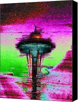 Seattle Tapestries Textiles Canvas Prints - Needle in a Raindrop Stack Canvas Print by Tim Allen