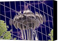 Seattle Canvas Prints - Needle Reflection Canvas Print by Tim Allen