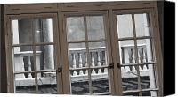 Balusters Canvas Prints - Neighbors Baluster Canvas Print by Anna Villarreal Garbis