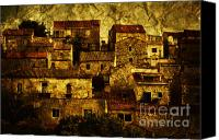Village Canvas Prints - Neighbourhood Canvas Print by Andrew Paranavitana