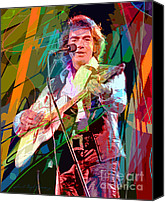 Player Canvas Prints - Neil Diamond Hot August Night Canvas Print by David Lloyd Glover