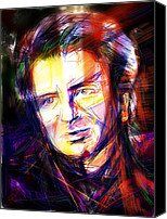 Celebrity Mixed Media Canvas Prints - Neil Finn Canvas Print by Russell Pierce