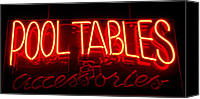 Tables Canvas Prints - Neon Pool Hall  Canvas Print by Steven Milner