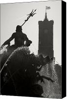 Rathaus Photo Canvas Prints - Neptune Fountain and Rotes Rathaus tower Canvas Print by RicardMN Photography