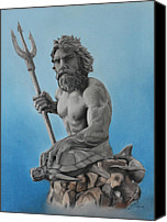 Miguel Rodriguez Canvas Prints - Neptune Canvas Print by Miguel Rodriguez