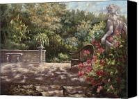 Court Yard Canvas Prints - Neptunes Garden Canvas Print by Jose Rodriguez