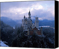 Bavarian Canvas Prints - Neuschwanstein Canvas Print by Don Ellis