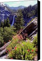 Waterfalls Canvas Prints - Nevada Falls Yosemite National Park Canvas Print by Alan Lenk