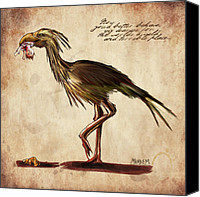 Monster Canvas Prints - Never Bird Canvas Print by Mandem