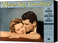 1956 Movies Canvas Prints - Never Say Goodbye, Cornell Borchers Canvas Print by Everett