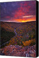 Autumn Canvas Prints - Neverending Autumn Canvas Print by Joseph Rossbach