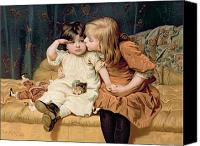 Consoling Canvas Prints - Nevermind Canvas Print by Frederick Morgan