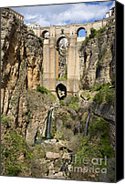 Ronda Canvas Prints - New Bridge in Ronda Canvas Print by Artur Bogacki