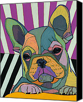 French Bulldog Canvas Prints - New Day Canvas Print by David  Hearn