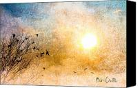 Sun Canvas Prints - New Day Yesterday Canvas Print by Bob Orsillo