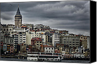 Byzantine Photo Canvas Prints - New District Skyline Canvas Print by Joan Carroll