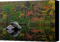 Autumn Canvas Prints - New England Photography Canvas Print by Juergen Roth