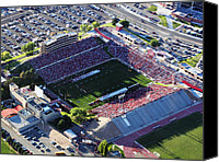 Albuquerque Canvas Prints - New Mexico Aerial View of University Stadium Canvas Print by Eagles Eye Photo