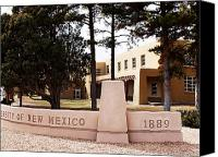 Albuquerque Canvas Prints - New Mexico Campus Sign Canvas Print by Rob Goldberg
