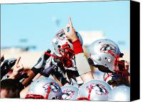 Team Canvas Prints - New Mexico Football Huddle Canvas Print by University of New Mexico Athletics