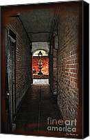 Court Yard Canvas Prints - New Orleans Alley Canvas Print by Joan  Minchak