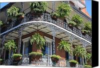 Balconies Canvas Prints - New Orleans Balcony Canvas Print by Carol Groenen