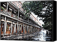 James Griffin Canvas Prints - New Orleans French Quarter Canvas Print by James Griffin