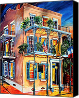 Balconies Canvas Prints - New Orleans La Fittes Guest House Canvas Print by Diane Millsap