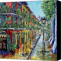 Beata Canvas Prints - New Orleans Oil Painting - NOLA Drizzle Canvas Print by Beata Sasik