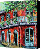 Beata Canvas Prints - New Orleans Oil painting - Red House Canvas Print by Beata Sasik