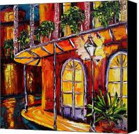 Beata Canvas Prints - New Orleans Original Oil Painting French Quarter Glow Canvas Print by Beata Sasik