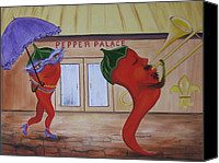 Rj Mcnall Canvas Prints - New Orleans Peppers Canvas Print by RJ McNall