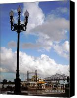 Riverwalk Canvas Prints - New Orleans Riverwalk Canvas Print by Joy Tudor