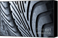 Track Racing Canvas Prints - New racing tires Canvas Print by Carlos Caetano
