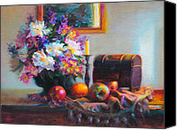 Arrangement Painting Canvas Prints - New Reflections Canvas Print by Talya Johnson