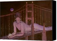 Nude Canvas Prints - New Years on the Golden Gate Canvas Print by Gary Kaemmer