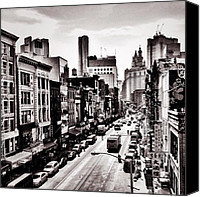 Nyc Canvas Prints - New York City - Above Chinatown Canvas Print by Vivienne Gucwa