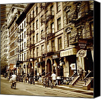 Nyc Canvas Prints - New York City - Back in Time Canvas Print by Vivienne Gucwa