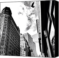 Street Canvas Prints - New York City - In Flight Canvas Print by Vivienne Gucwa