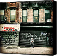 Street Canvas Prints - New York City - Lower East Side Canvas Print by Vivienne Gucwa