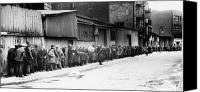 Poverty Canvas Prints - New York City: Bread Line Canvas Print by Granger