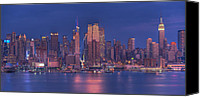 Cities Ceramics Canvas Prints - New York City Canvas Print by Kirit Prajapati