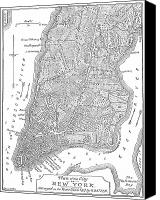 Manhattan Map Canvas Prints - New York City Map, 1766-7 Canvas Print by Granger