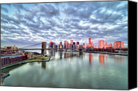"Cloudscape Canvas Prints - New York City Canvas Print by Photography by Steve Kelley aka ""mudpig"""