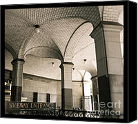 Subway Station Photo Canvas Prints - New York City Subway Canvas Print by Heidi Hermes
