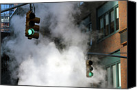 Guidance Canvas Prints - New York City Traffic Lights In Steam Canvas Print by All images  mark martucci photography